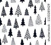 vector seamless christmas  new... | Shutterstock .eps vector #1133285429