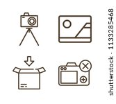 interface related set of 4... | Shutterstock . vector #1133285468