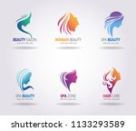 silhouettes of a girl faces... | Shutterstock .eps vector #1133293589