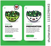 salad recipe ux ui app design...