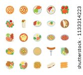 dish flat icon pack  | Shutterstock .eps vector #1133314223