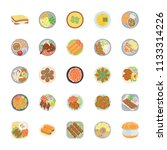 dishes flat vector icons pack   | Shutterstock .eps vector #1133314226