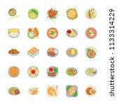 dishes flat vector icons   | Shutterstock .eps vector #1133314229