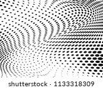 halftone wavy background.... | Shutterstock .eps vector #1133318309
