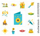 set of 13 simple editable icons ...   Shutterstock .eps vector #1133319203