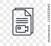 video file vector icon isolated ...