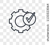 settings vector icon isolated... | Shutterstock .eps vector #1133323064