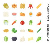 food ingredients icon pack   | Shutterstock .eps vector #1133325920