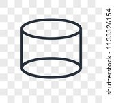 cylinder vector icon isolated... | Shutterstock .eps vector #1133326154