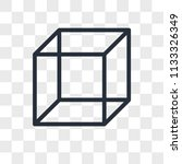 cube vector icon isolated on... | Shutterstock .eps vector #1133326349