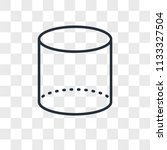 cylinder vector icon isolated... | Shutterstock .eps vector #1133327504