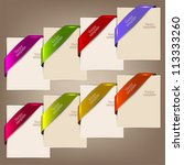 colorful bookmarks and notes... | Shutterstock .eps vector #113333260