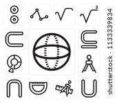 set of 13 simple editable icons ... | Shutterstock .eps vector #1133339834