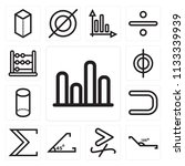 set of 13 simple editable icons ... | Shutterstock .eps vector #1133339939