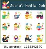 character of social media  jobs ... | Shutterstock .eps vector #1133342870