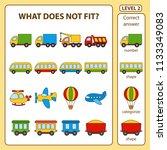 set of tasks for the... | Shutterstock .eps vector #1133349083
