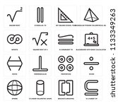 set of 16 icons such as is a...