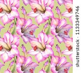 flowers pattern with pink... | Shutterstock . vector #1133349746