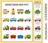 set of tasks for the... | Shutterstock .eps vector #1133350850