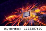 a holographic 3d illustration... | Shutterstock . vector #1133357630