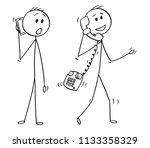 cartoon stick drawing... | Shutterstock .eps vector #1133358329