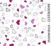 light purple  pink vector... | Shutterstock .eps vector #1133363048