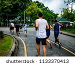 asian runner group jogging in...   Shutterstock . vector #1133370413