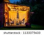 view over cozy outdoor terrace... | Shutterstock . vector #1133375633