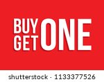 red shop vector sign for a buy... | Shutterstock .eps vector #1133377526