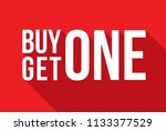 red shop vector sign for a buy... | Shutterstock .eps vector #1133377529