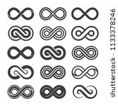 set of infinity symbol vector... | Shutterstock .eps vector #1133378246