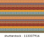 colorful ethnic seamless...   Shutterstock . vector #113337916