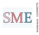 sme  small and medium sized... | Shutterstock .eps vector #1133400770