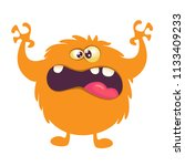 scary cartoon monster. vector... | Shutterstock .eps vector #1133409233