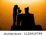 silhouette workers pour... | Shutterstock . vector #1133419799