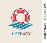 red lifebuoy design element...   Shutterstock .eps vector #1133420126