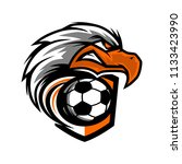 eagle head football team logo   Shutterstock .eps vector #1133423990