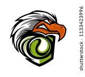 eagle head tennis team logo   Shutterstock .eps vector #1133423996