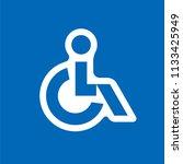 disabled handicap vector icon   Shutterstock .eps vector #1133425949
