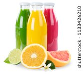 juice smoothie orange fruit... | Shutterstock . vector #1133426210