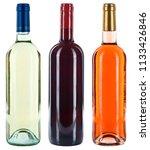 collection of wine bottles... | Shutterstock . vector #1133426846