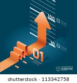 infographic isometric arrow...