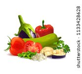 fresh and nutritious dietary... | Shutterstock .eps vector #1133428628
