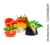 fresh and nutritious dietary... | Shutterstock .eps vector #1133428634