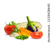 fresh and nutritious dietary... | Shutterstock .eps vector #1133428640
