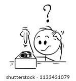 cartoon stick drawing... | Shutterstock .eps vector #1133431079