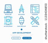 app development thin line icons ...