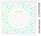 lighting concept with thin line ... | Shutterstock .eps vector #1133437028