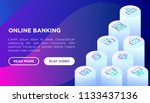 online banking concept with... | Shutterstock .eps vector #1133437136