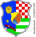 coat of arms of zagreb county... | Shutterstock .eps vector #1133437199